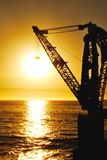 Sun hanged by a crane. In Viña del Mar, Chile Royalty Free Stock Images
