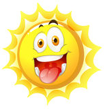 Sun with happy face Stock Photography