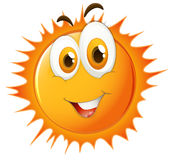 Sun with happy face Royalty Free Stock Photos