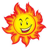 Sun with happy face Royalty Free Stock Photography