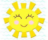 Sun with a Happy Smile Royalty Free Stock Photography