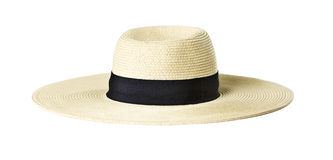 Sun Hat. Woman's Sun Hat on white stock images