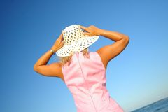 Sun hat. Girl with sun hat Royalty Free Stock Photo
