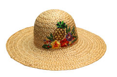 Sun Hat. Colorful sun hat. Isolated image with clipping path stock photography