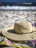 Sun Hat on the Beach Stock Photography