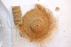 Sun hat made of straw Stock Photography