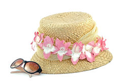 Sun Hat and Sunglasses stock photography