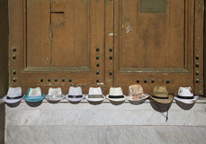 Sun hats for sale Stock Photo