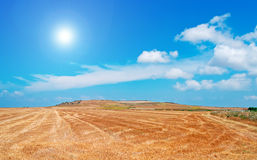 Sun and hay Royalty Free Stock Images
