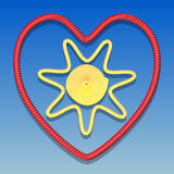 Sun in the heart Stock Photo