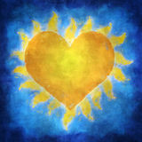 Sun Heart Royalty Free Stock Photo