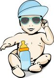 Sun and heat protection for babies Royalty Free Stock Images