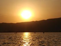 Sun hell stockfoto