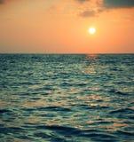 Sun hermoso y mar Fotografía de archivo