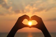 Sun-Herz Stockbild
