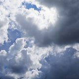 Sun hidden behind the clouds Royalty Free Stock Photography