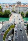Bridge in Lyon, Rhone river Royalty Free Stock Photo
