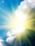 Sun-Himmelwolken Stockfoto