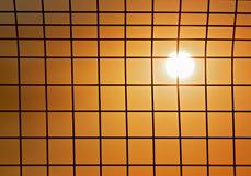 Sun hinter Zaun Lizenzfreie Stockfotografie
