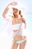 Sun holiday � relaxing on the beach Royalty Free Stock Image