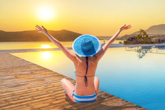 Sun holidays in Greece Royalty Free Stock Photography