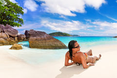 Sun holidays at the tropical beach Royalty Free Stock Photography