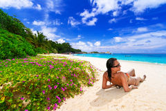 Sun holidays at the tropical beach Stock Image