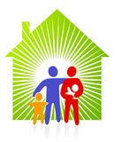 Sun at Home. With family Royalty Free Stock Photo
