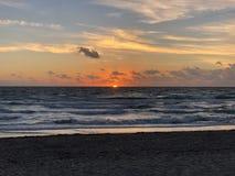 Sun on the horizon stock images
