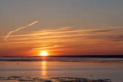 Sun on the horizon Royalty Free Stock Photos