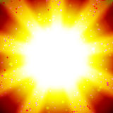 Sun on a hot sky Royalty Free Stock Image