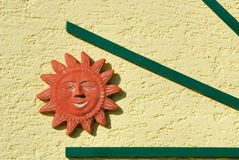 Sun on house facade no.1 Stock Photo