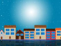 Sun Houses Shows Sunny Metropolis And Metropolitan Royalty Free Stock Photo