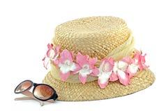 Sun-Hut und Sonnenbrillen Stockfotografie