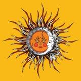 Sun i księżyc Obrazy Royalty Free