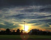 Sun i niebo Obrazy Royalty Free
