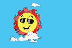 Sun i niebo Zdjęcie Royalty Free