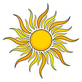 Sun icon Royalty Free Stock Images