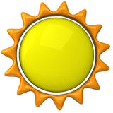 Sun icon 3d Royalty Free Stock Image