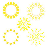 Sun Icon Collection Royalty Free Stock Photography