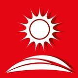 Sun icon design Royalty Free Stock Photography