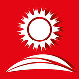 Sun icon design Royalty Free Stock Images