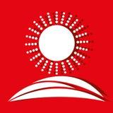 Sun icon design Stock Image
