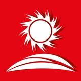 Sun icon design Stock Photos