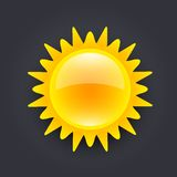 Sun icon Stock Photography