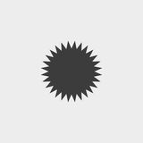 Sun icon in a flat design in black color. Vector illustration eps10 Royalty Free Stock Photo