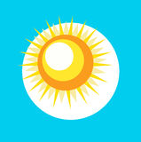 Sun icon flat design vector Stock Images