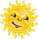 Sun icon light Royalty Free Stock Images