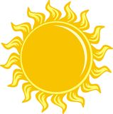 Sun icon light Stock Images