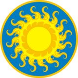 Sun icon light Stock Photography